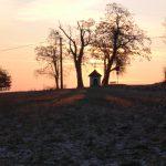 Die Autishof Kapelle im Sonnenaufgang